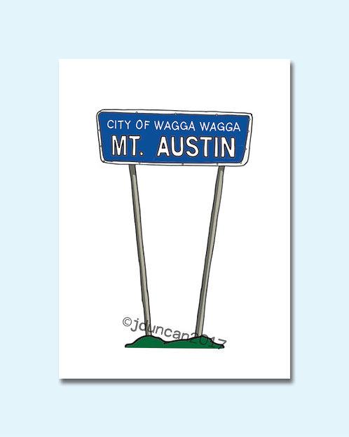 Mt Austin Sign