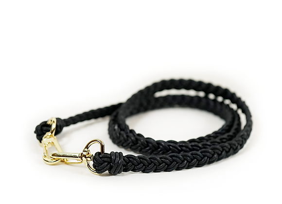 braided black strap
