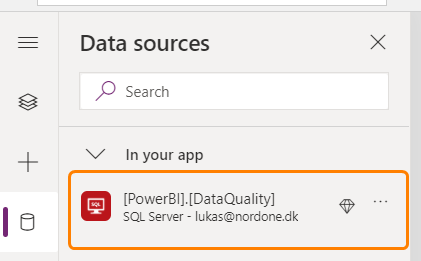 SQL Server table in Power Apps
