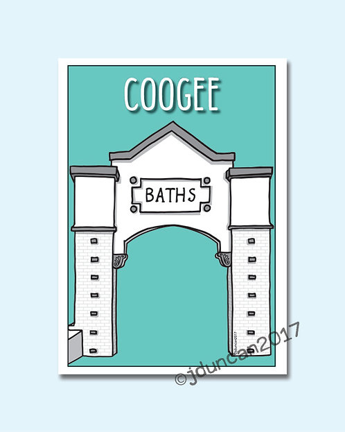 Coogee, Coogee beach, Sydney illustrator, Giles baths