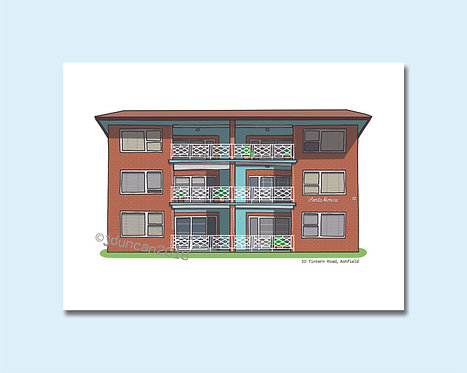 red brick flats, Sydney architecture, Sydney illustrator