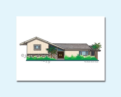 The Brady Bunch, The Brady Bunch House, A Very Brady Renovation, Brady Bunch House illustration