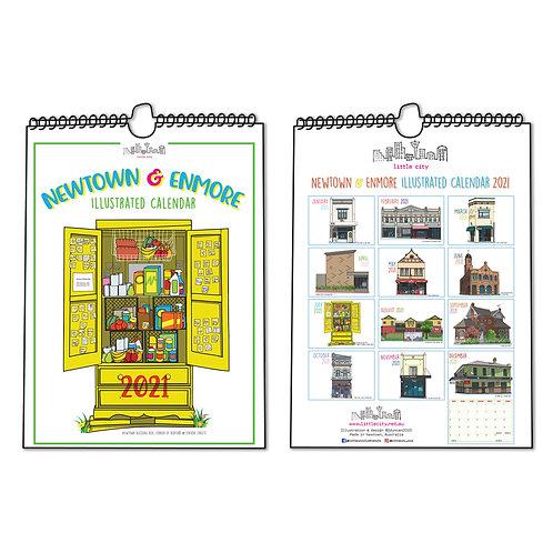 Newtown & Enmore Illustrated Calendar 2021