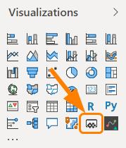 Visualizations pane in Power BI
