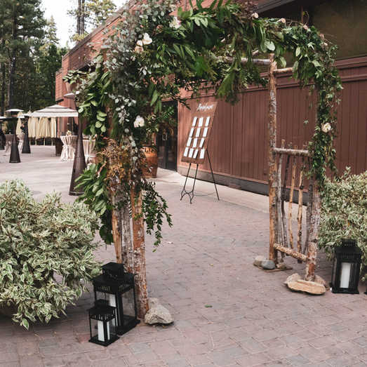 Natural Arbor | Wedding Entrance