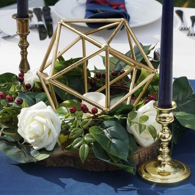 Geometric Centerpiece   Tablescape