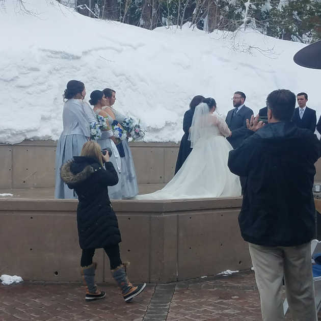 Winter Ceremony   Outdoor Winter Wedding