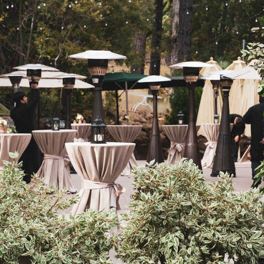 Outdoor Cocktail Spaces | Wedding Reception