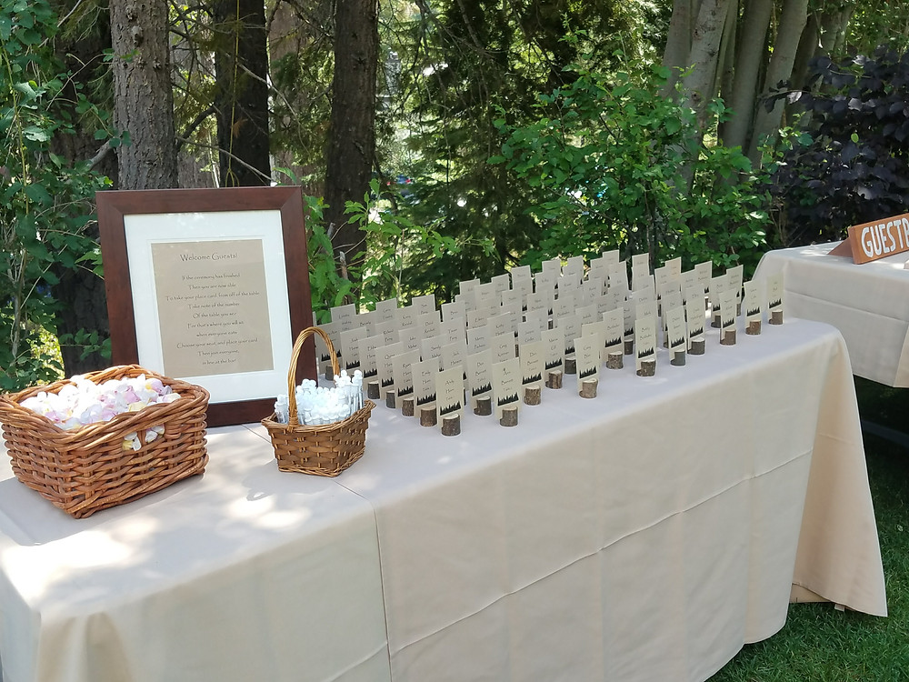 Guest Seating - Welcome Table