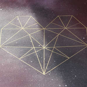 Geometric Heart   Creative Wedding Guest Book