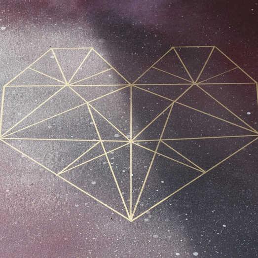 Geometric Heart | Creative Wedding Guest Book