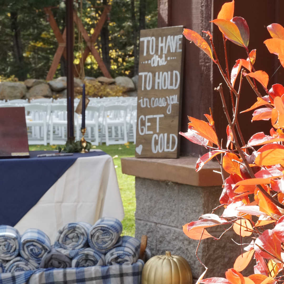 Fall Wedding Setup | Welcome Signage