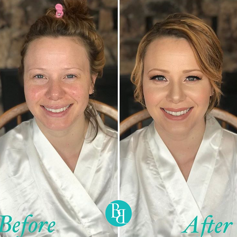 Bridal Makeup Look Before & After