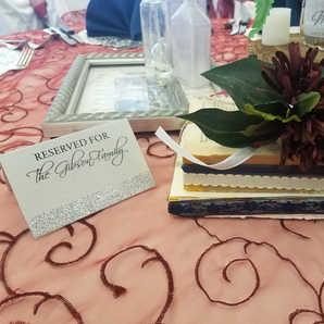 Romantic Details   Burgandy Table Overlay