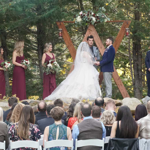 Fall Ceremony In Lake Tahoe | Outdoor Weddings