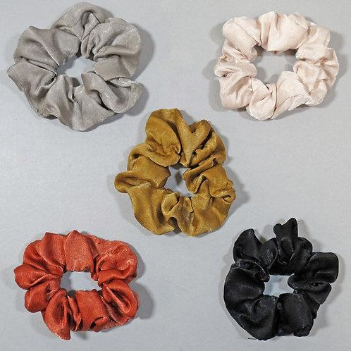 Set Of 5 Hair Scrunchies - Multicolor