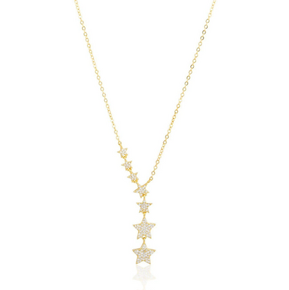 Pave Star Lariat - Gold