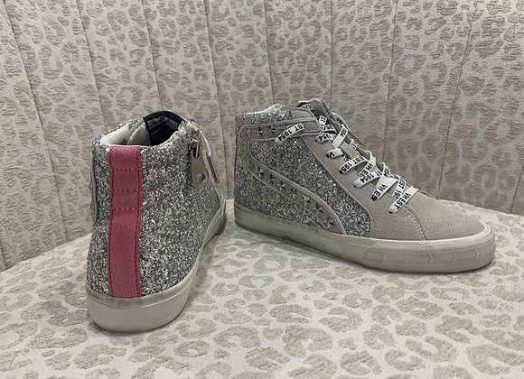 """""""Ray"""" Silver Glitter High Tops"""