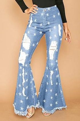The Peyton Flare Jeans In Light Denim