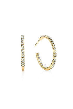 Grace Cubic Zirconia Hoop Earrings - Gold