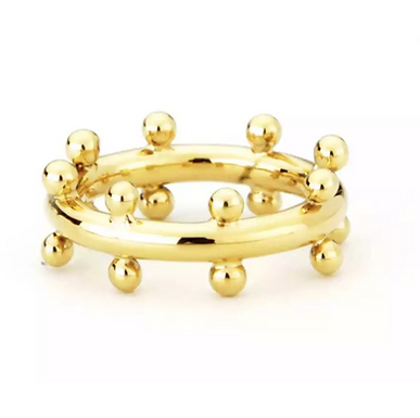 Cindy Studded Ring - Gold