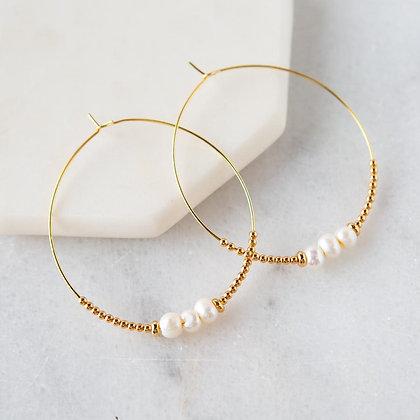 Lily Earrings - Pearl