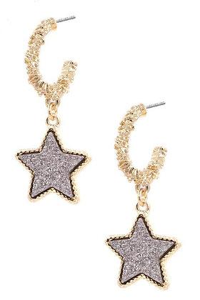 Shining Star Earrings - Silver