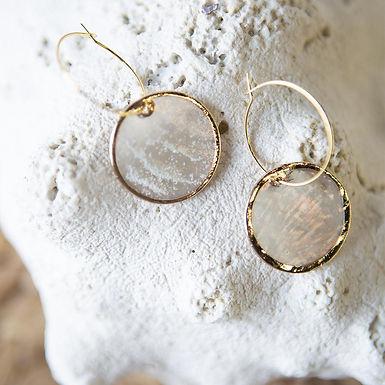 Capiz Shell Earrings - Round