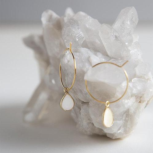 Berklee Earrings - Pearl