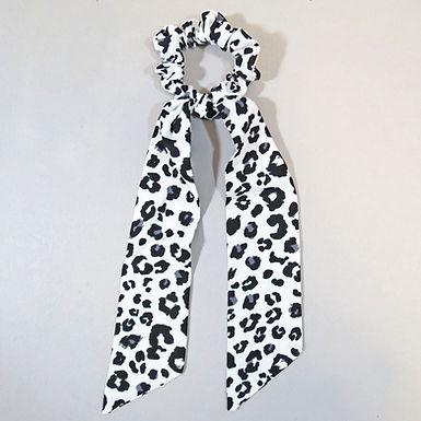Leopard Print Long Tail Scrunchie