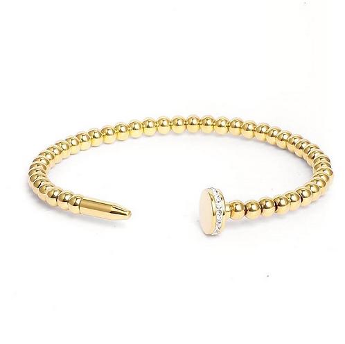Beaded Nail Bracelet - Gold