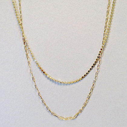 Double Dainty Layer Necklace - Gold