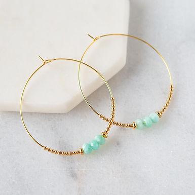 Lily Earrings - Amazonite