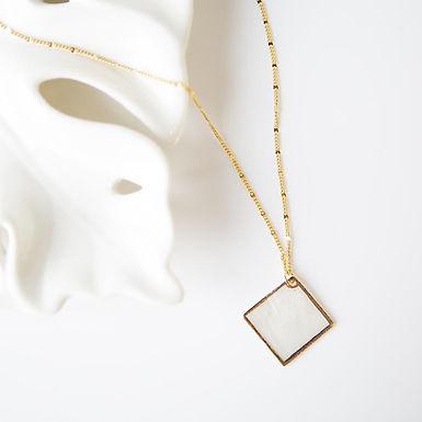 Capiz Shell Necklace - Diamond