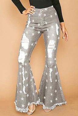 The Peyton Flare Jeans In Grey