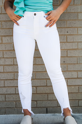 The Perfect White Denim Jeans