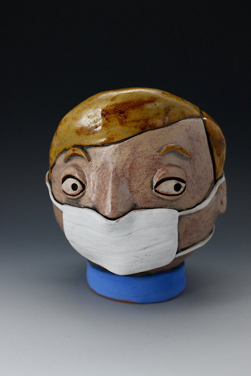 Little Boy Face Mask Face Pot