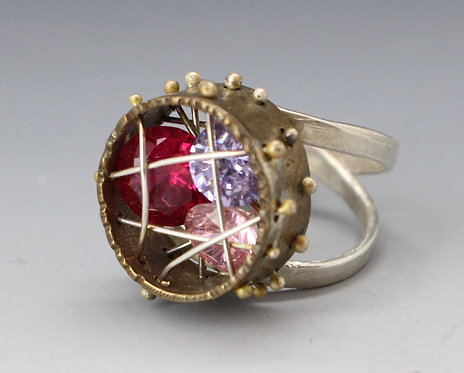 Crystal Cage Ring