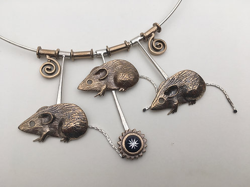 Three Blind Mice necklace