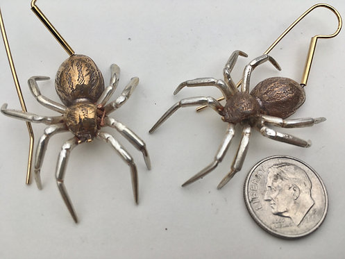 Spider Earrings on wires