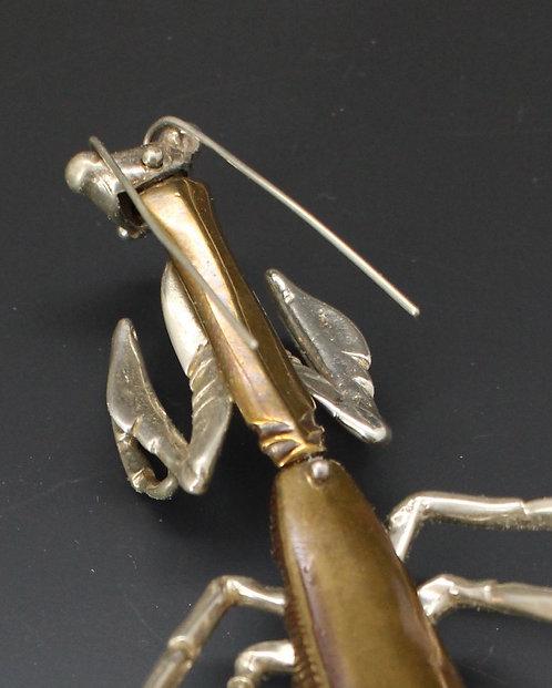 Praying Mantis Brooch