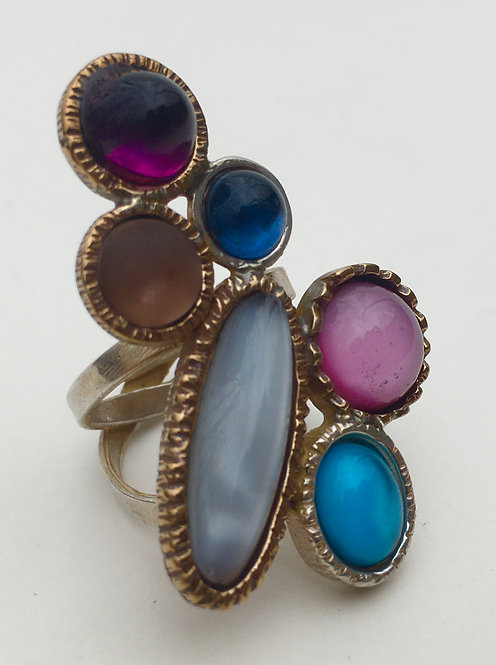 Eclectic 6-stone ring