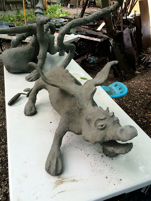 Create a fantasy animal in Cement August 28 & 29,2021