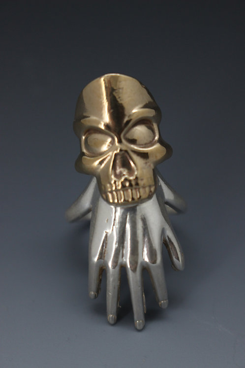 Hand and Skull ring