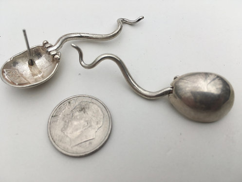 Sperm Earrings sterling
