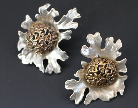Cauliflower Earrings sterling