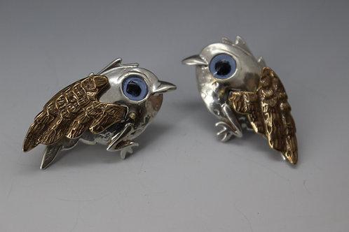 Chickadee Earrings in Sterling