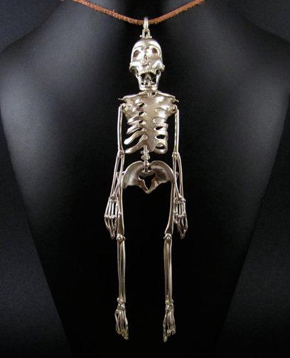 Skeleton Pendant Bronze