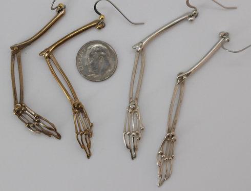Skeleton Arm Articulated Earrings