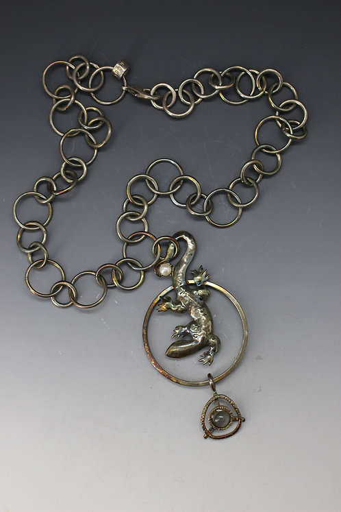 Single Salamander Necklace